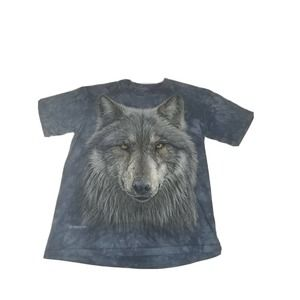 The Mountain Sz Small Tie Dye Wolf Graphic Tee